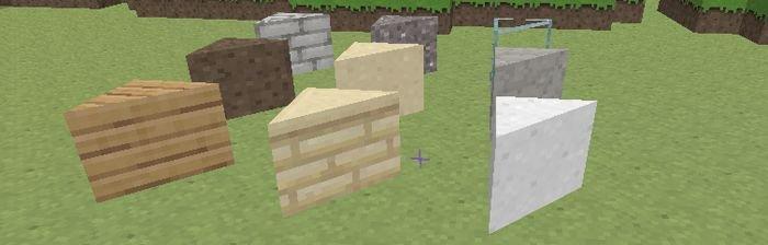Майнкрафт мод треугольные блоки