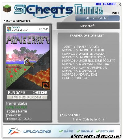 Minecraft � ������� (ALL VERSION + 7) ������� ���������