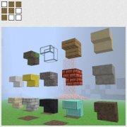 Kaevator: Slopes for Minecraft v2.2 (угловые блоки) [beta 1.7.3]