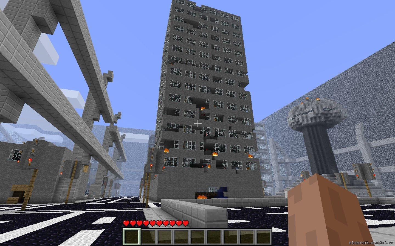 Скачать карту города для Майнкрафт бесплатно » Всё