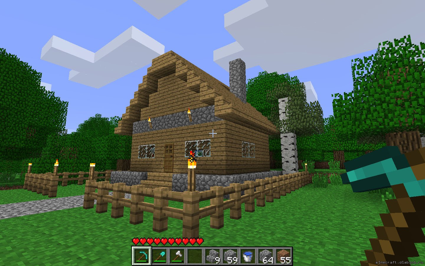 Minecraft for What to do to build a house
