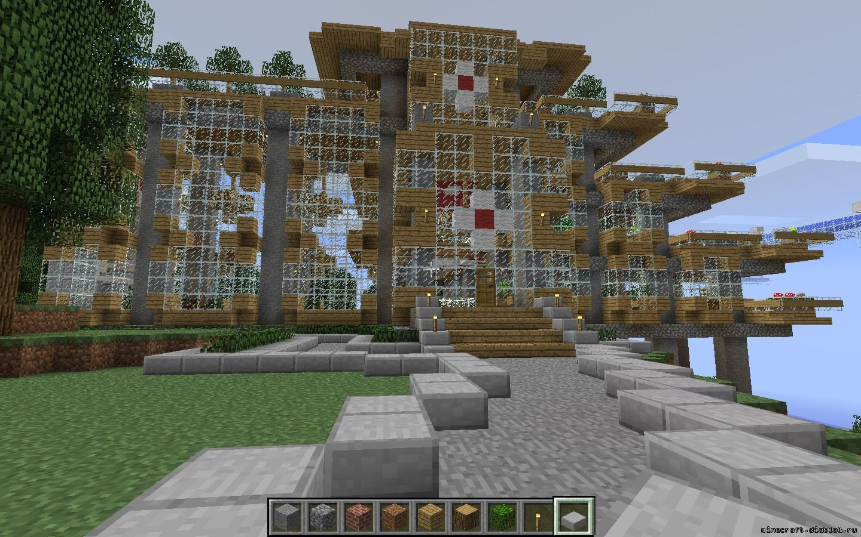 minecraft постройка красивого дома схема