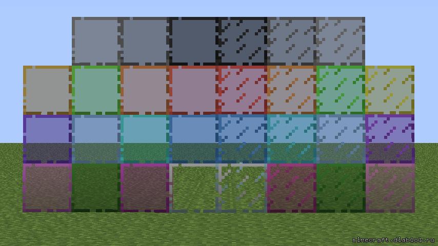 Разноцветное Стекло в Майнкрафт
