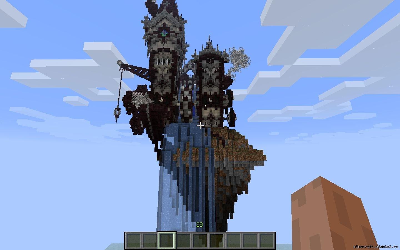 Скачать карту для майнкрафт с крепостью